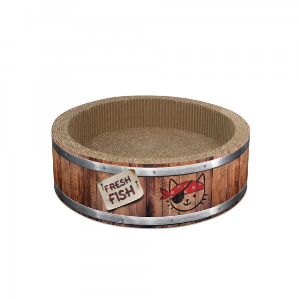 Catit Play Pirates – Barrel Scratcher