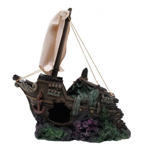 Marina Ornament halbes, gesunkenes Schiff