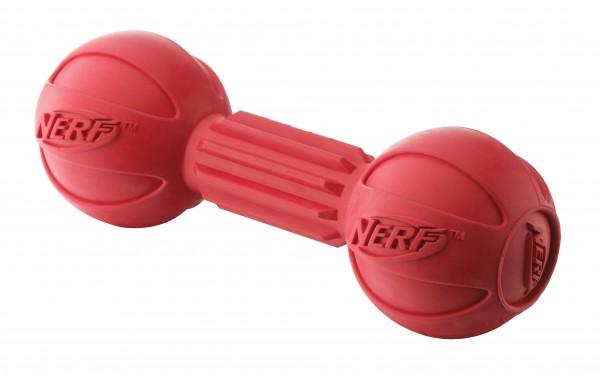 NERF Dog Gummihantel rot, 2er-Set
