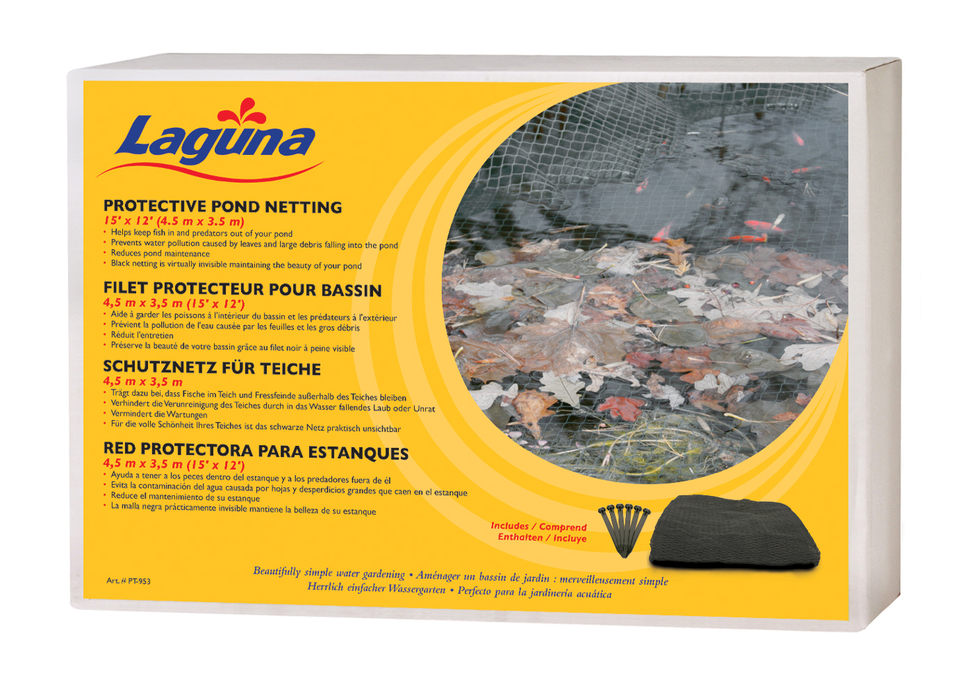 Laguna teichnetz schwarz zubeh r teich hagen for Teichfische schwarz