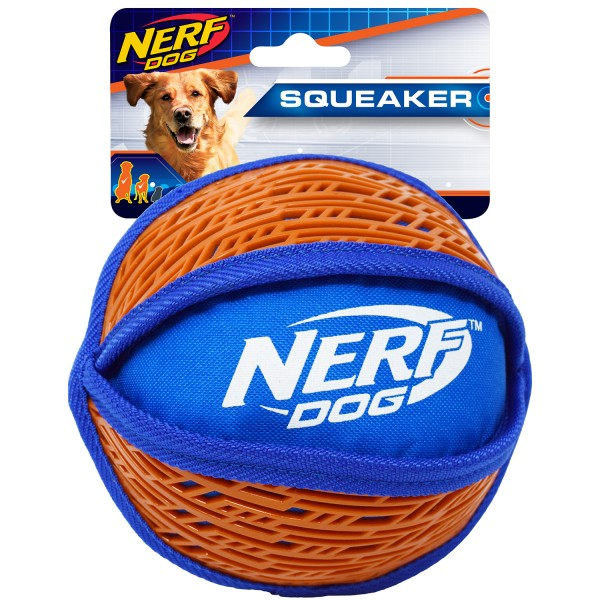NERF Dog Force Grip Ball, rot/blau: 15 cm