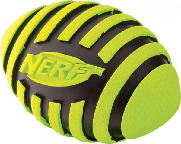 Nerf Dog Squeak Spiral Football