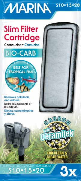 Marina Slim Filter Bio-Carb, 3er-Pack