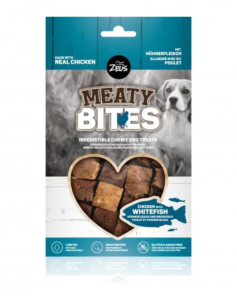 Zeus Meaty Bites Hühnerfleisch und Weißfisch, 150g