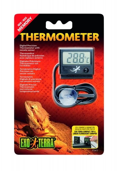 Exo Terra LED Thermometer mit Messfühler