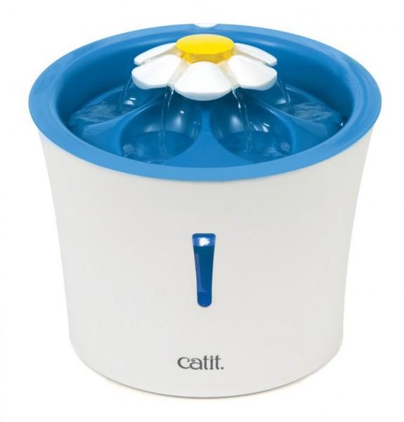 Catit Blumentrinkbrunnen, 3 Liter, blau, mit LED