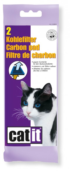 Kohlefilter für Katzentoiletten, 2er-Set